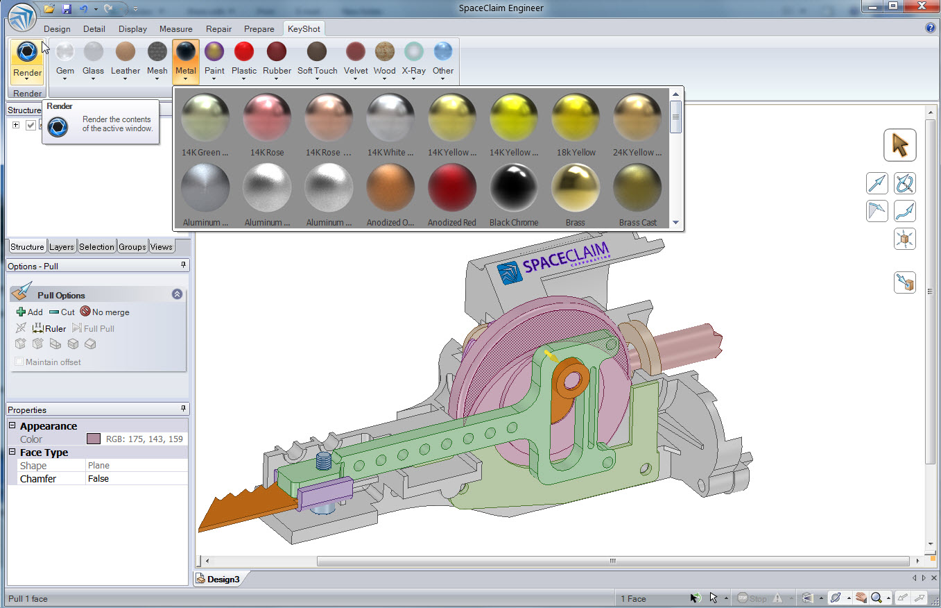 3d design software strategic partnerships spaceclaim 3d design application