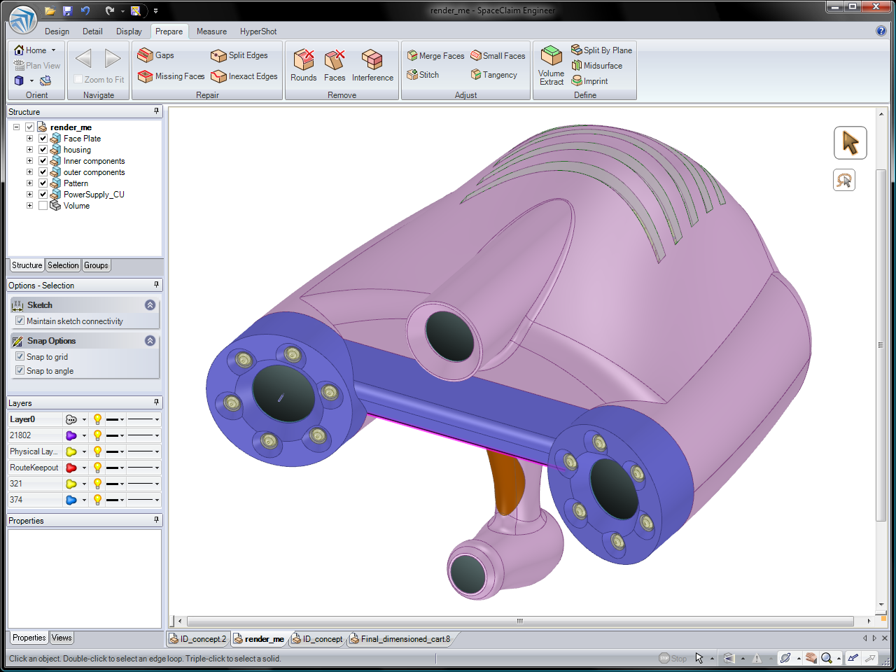 Spaceclaim ansys partnership conceptual and product for Simple 3d cad software free